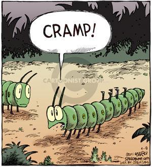 Comic Strip Dave Coverly  Speed Bump 2011-04-08 centipede