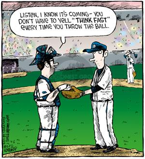 Comic Strip Dave Coverly  Speed Bump 2011-07-06 throw baseball