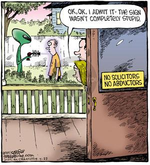 Comic Strip Dave Coverly  Speed Bump 2011-07-23 alien abduction