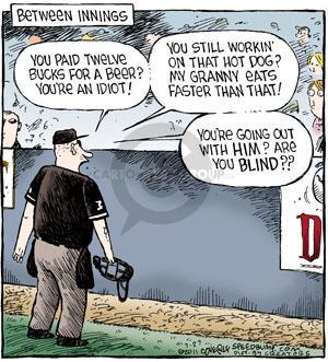 Comic Strip Dave Coverly  Speed Bump 2011-07-27 baseball fan