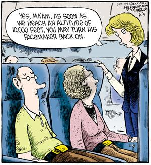 Comic Strip Dave Coverly  Speed Bump 2011-08-05 airplane travel