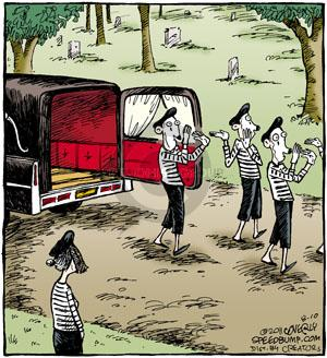 Comic Strip Dave Coverly  Speed Bump 2011-08-10 graveyard