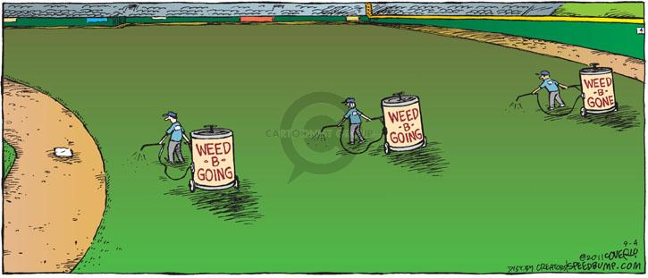 Comic Strip Dave Coverly  Speed Bump 2011-09-04 baseball field