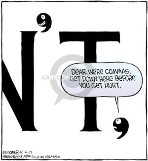 Comic Strip Dave Coverly  Speed Bump 2011-09-17 punctuate