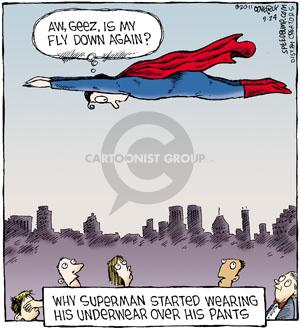 Cartoonist Dave Coverly  Speed Bump 2011-09-24 superhero