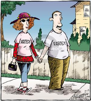 Cartoonist Dave Coverly  Speed Bump 2011-10-12 pair