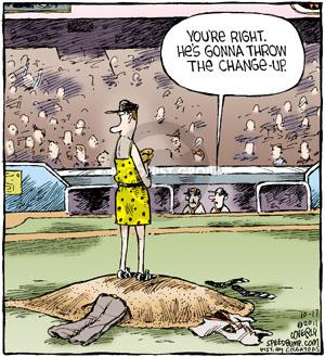 Comic Strip Dave Coverly  Speed Bump 2011-10-17 throw baseball