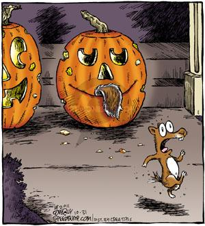 Cartoonist Dave Coverly  Speed Bump 2011-10-31 mouth