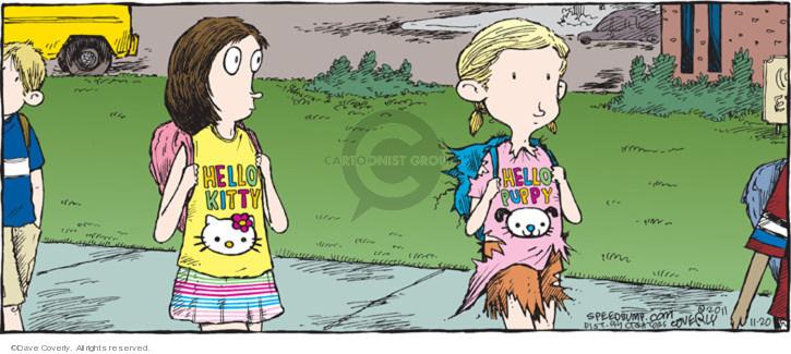 Cartoonist Dave Coverly  Speed Bump 2011-11-20 t-shirt