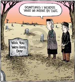 Comic Strip Dave Coverly  Speed Bump 2011-12-17 grave