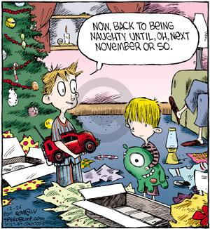 Comic Strip Dave Coverly  Speed Bump 2011-12-26 child behavior