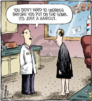 Comic Strip Dave Coverly  Speed Bump 2012-01-12 barber