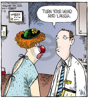 Comic Strip Dave Coverly  Speed Bump 2012-01-18 clown