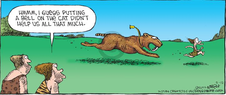 Comic Strip Dave Coverly  Speed Bump 2012-02-12 chasing cat