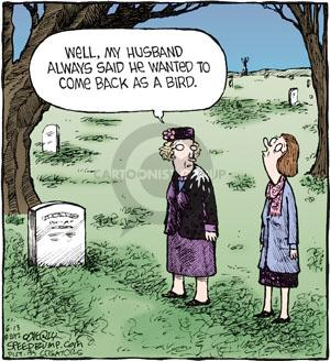 Comic Strip Dave Coverly  Speed Bump 2012-06-13 grave