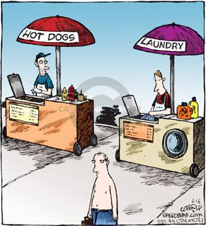 Cartoonist Dave Coverly  Speed Bump 2012-06-16 laundry