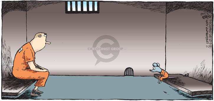 Cartoonist Dave Coverly  Speed Bump 2012-07-29 jail cell