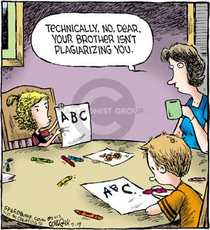 Comic Strip Dave Coverly  Speed Bump 2012-07-19 plagiarism