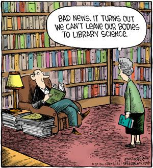 Cartoonist Dave Coverly  Speed Bump 2012-07-31 library