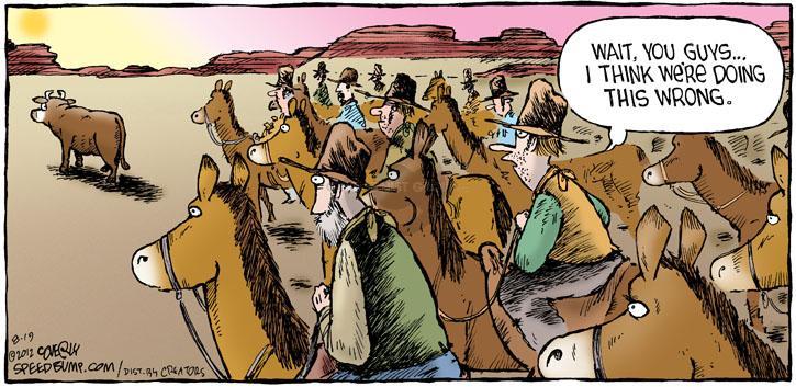 Cartoonist Dave Coverly  Speed Bump 2012-08-19 herd