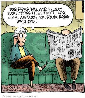 Cartoonist Dave Coverly  Speed Bump 2012-08-31 tweet