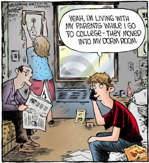 Cartoonist Dave Coverly  Speed Bump 2012-09-13 college