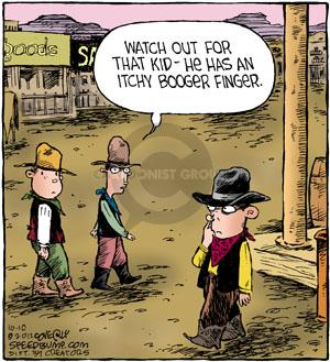 Comic Strip Dave Coverly  Speed Bump 2012-10-10 old west