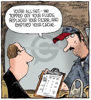 Cartoonist Dave Coverly  Speed Bump 2012-11-05 computer storage