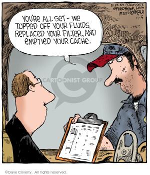 Cartoonist Dave Coverly  Speed Bump 2012-11-05 automobile maintenance