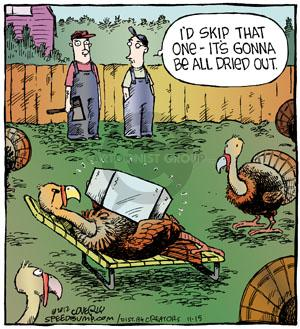 Comic Strip Dave Coverly  Speed Bump 2012-11-15 cook Thanksgiving