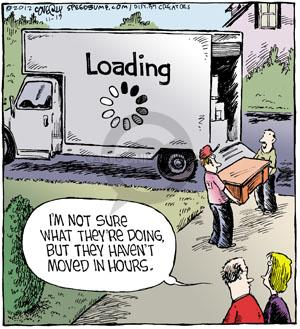 Cartoonist Dave Coverly  Speed Bump 2012-11-19 computer technology