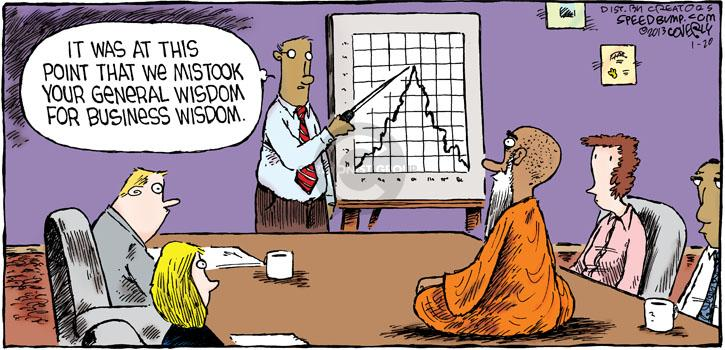 Cartoonist Dave Coverly  Speed Bump 2013-01-20 business