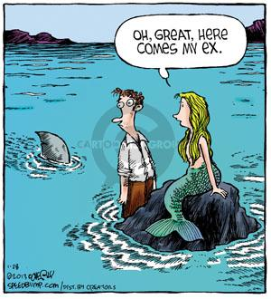 Comic Strip Dave Coverly  Speed Bump 2013-01-28 shark