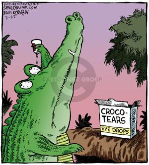 Crocodile cartoon strip