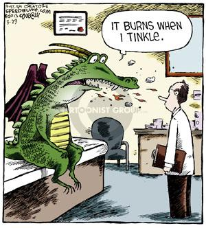 Cartoonist Dave Coverly  Speed Bump 2013-03-29 fire-breathing dragon