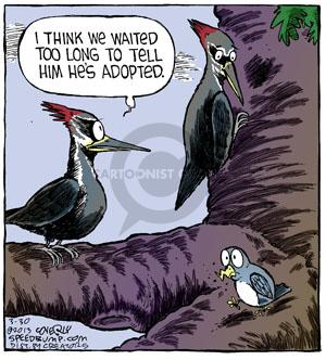 Comic Strip Dave Coverly  Speed Bump 2013-03-30 woodpecker
