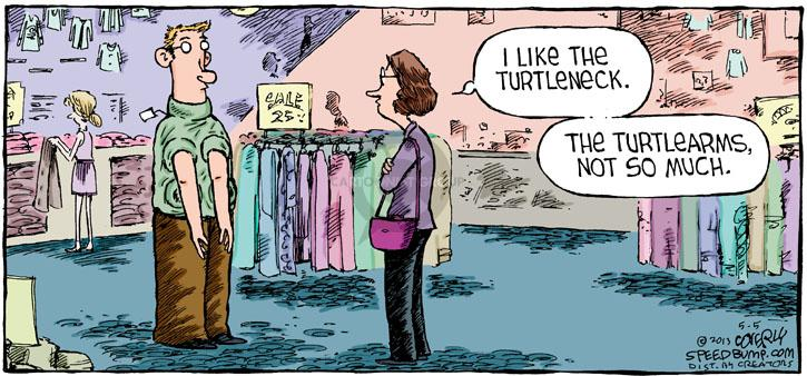 Cartoonist Dave Coverly  Speed Bump 2013-05-05 style
