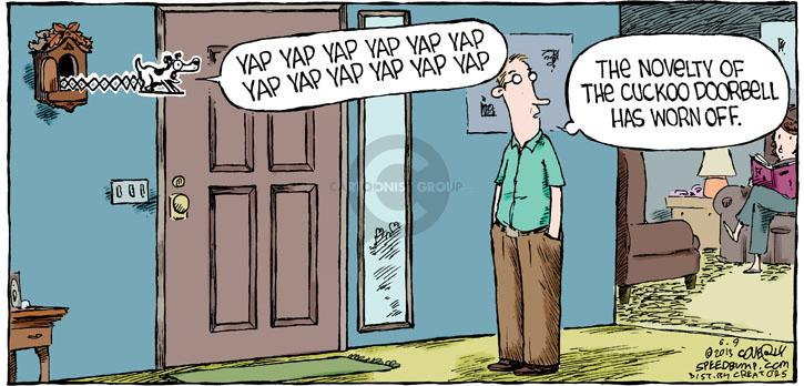 Comic Strip Dave Coverly  Speed Bump 2013-06-09 doorbell