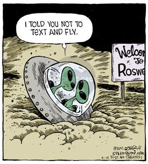 Comic Strip Dave Coverly  Speed Bump 2013-06-14 fly
