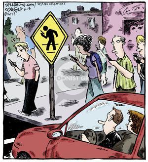 Comic Strip Dave Coverly  Speed Bump 2013-06-18 pedestrian