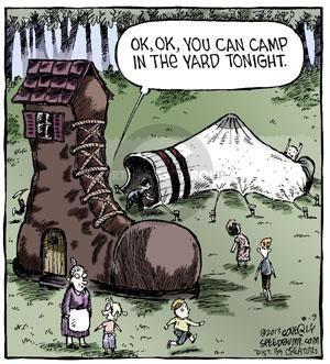 Ok, ok, you can camp in the yard tonight.