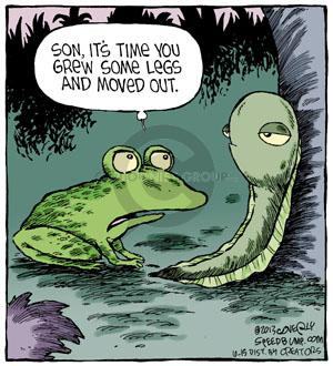 Comic Strip Dave Coverly  Speed Bump 2013-10-15 frog