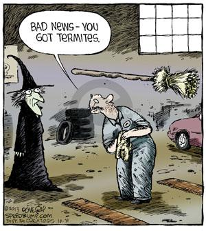 Comic Strip Dave Coverly  Speed Bump 2013-10-31 bad news