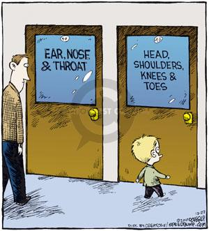 Ear, Nose & Throat. Head, Shoulders, Knees & Toes.  (Published originally on December 22, 2010.)