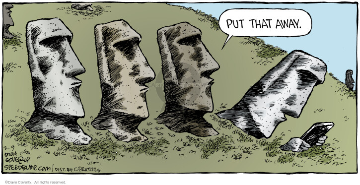 Comic Strip Dave Coverly  Speed Bump 2014-02-09 Easter Island