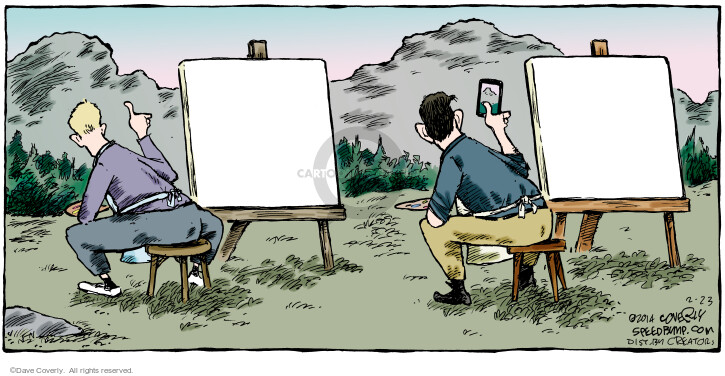 Comic Strip Dave Coverly  Speed Bump 2014-02-23 painter