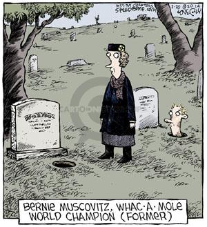 Comic Strip Dave Coverly  Speed Bump 2014-02-20 graveyard