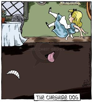 Comic Strip Dave Coverly  Speed Bump 2014-03-03 cheshire cat