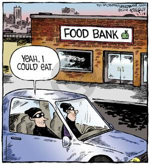 FOOD BANK. Yeah, I could eat.