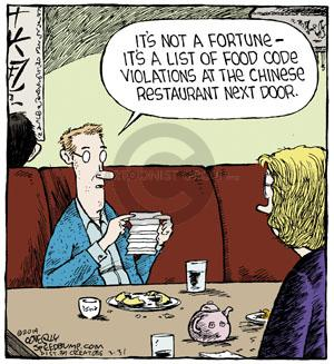 Cartoonist Dave Coverly  Speed Bump 2014-03-31 fortune cookie